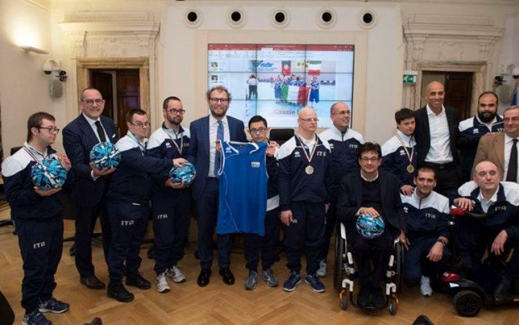 Il Ministro dello Sport Luca Lotti ha premiato i nostri campioni di basket