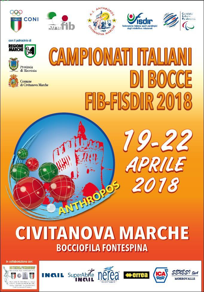 Campionati di bocce FISDIR-FIB: a Civitanova la IX edizione