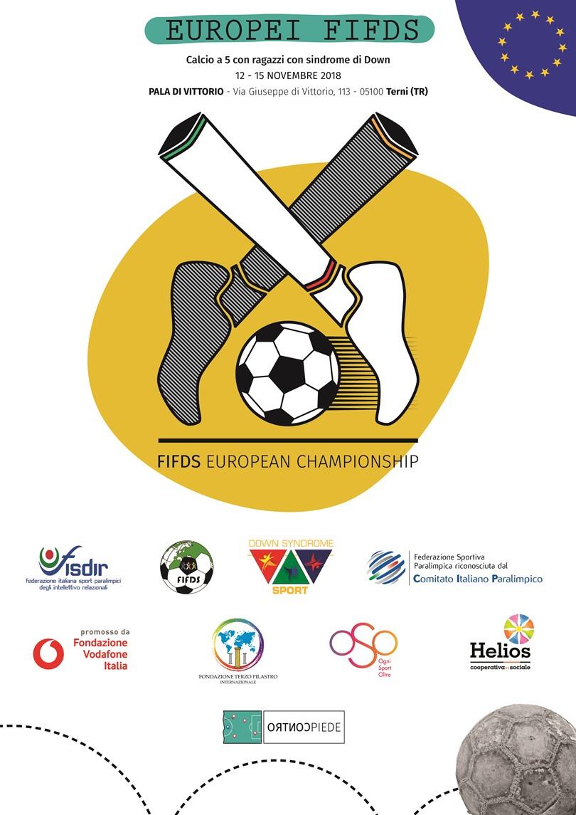Europei FIFDS a Terni: martedì il calcio di inizio