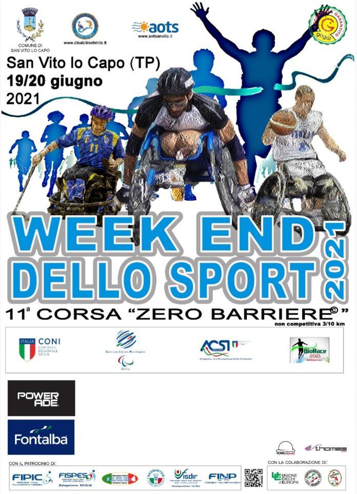 """Week End dello Sport / 11^ corsa """"Zero Barriere"""" – San Vito lo Capo (TP) 19/20.06.21"""