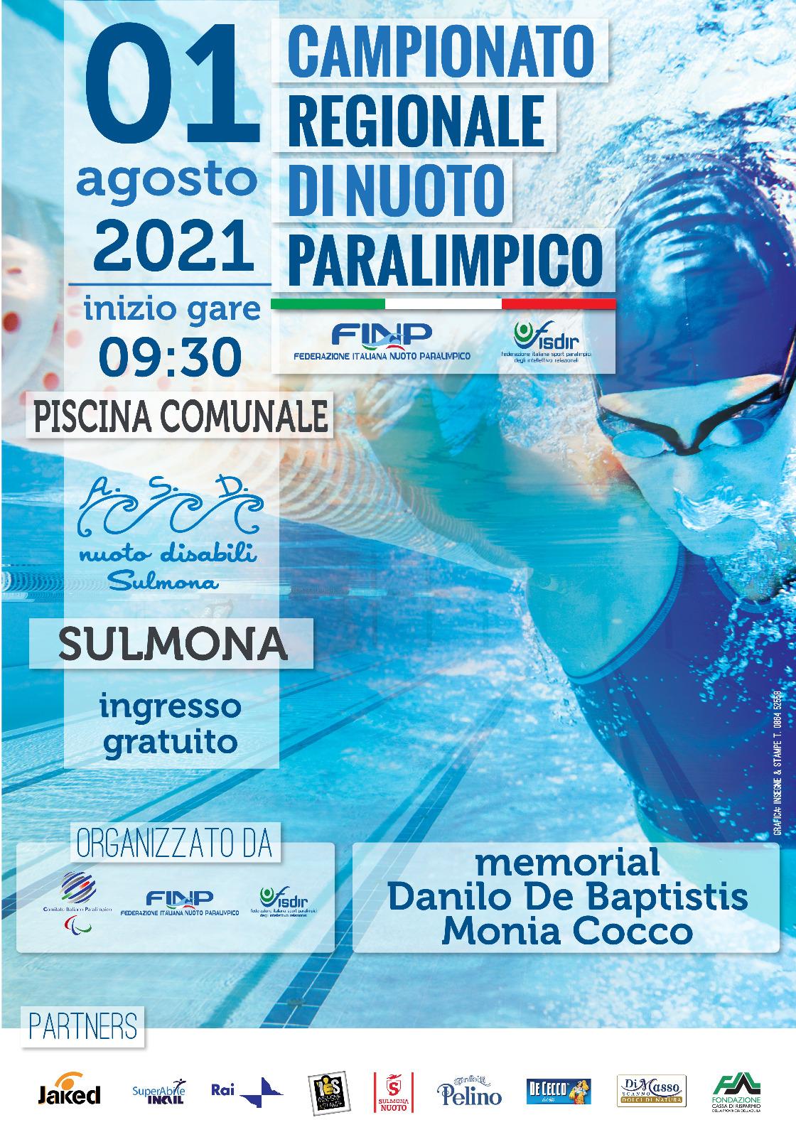 A Sulmona il Campionato regionale di nuoto